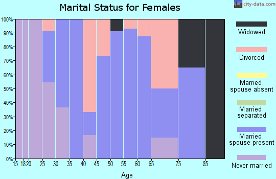 Zip code 54447 marital status for females