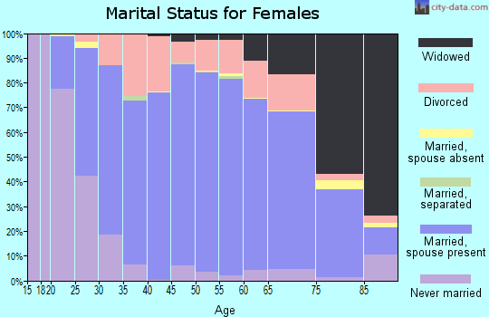 Zip code 54452 marital status for females