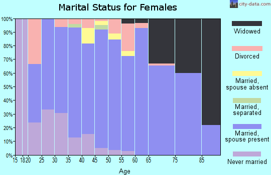 Zip code 54473 marital status for females