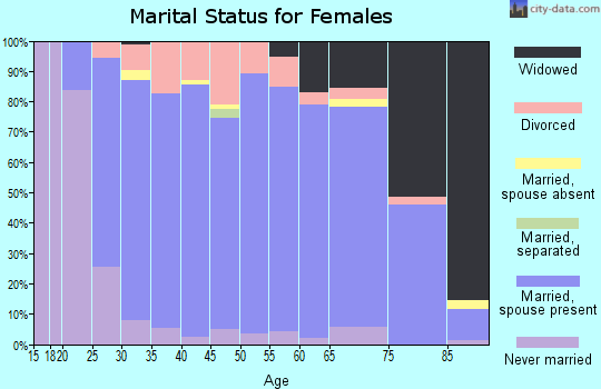Zip code 54484 marital status for females
