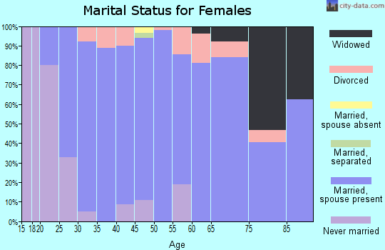 Zip code 55031 marital status for females