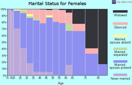 Zip code 55038 marital status for females
