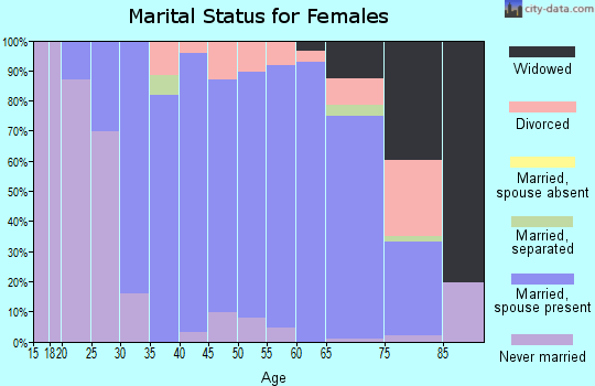 Zip code 55042 marital status for females