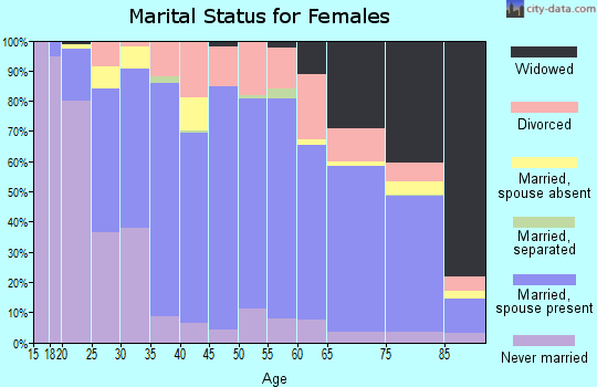 Zip code 55060 marital status for females