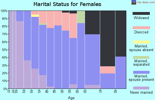 Zip code 55070 marital status for females