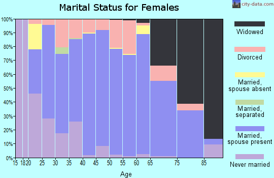 Zip code 55336 marital status for females
