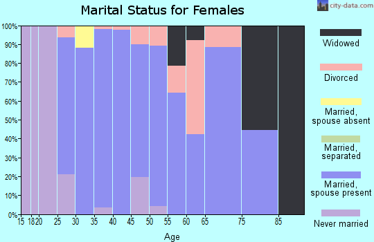 Zip code 55341 marital status for females