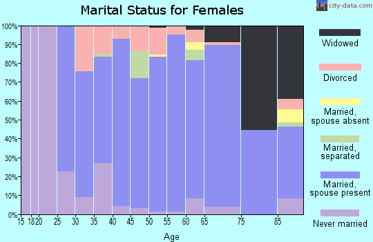 Zip code 55359 marital status for females