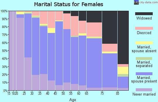 Zip code 55369 marital status for females