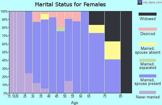 Zip code 55375 marital status for females