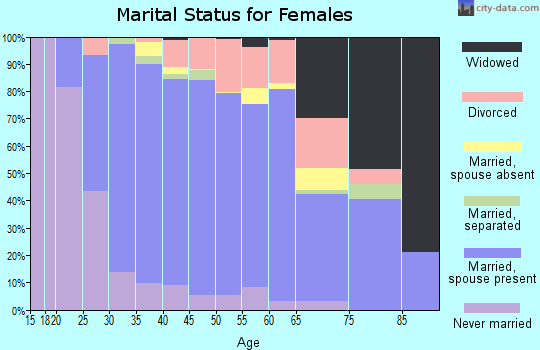 Zip code 55378 marital status for females
