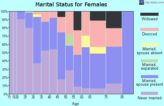 Zip code 55401 marital status for females