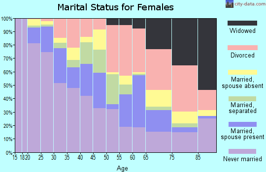 Zip code 55404 marital status for females