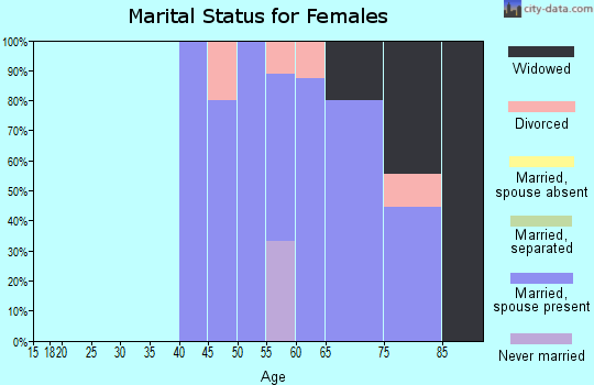 Zip code 55602 marital status for females