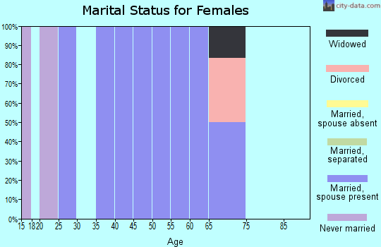 Zip code 55784 marital status for females