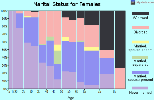 Zip code 55806 marital status for females