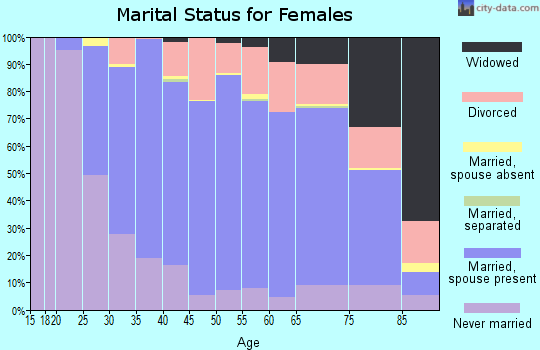 Zip code 55902 marital status for females