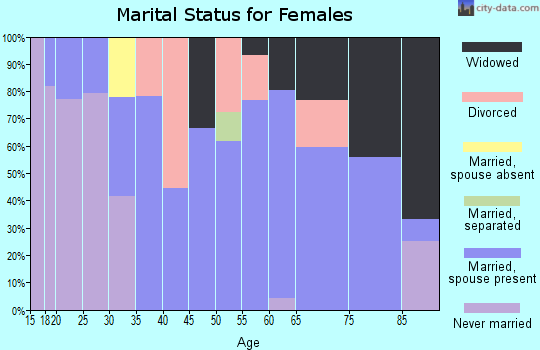 Zip code 55918 marital status for females