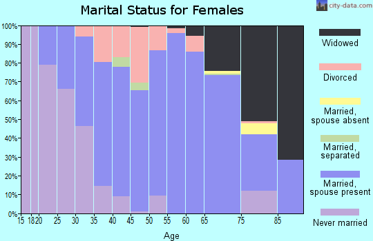 Zip code 55921 marital status for females