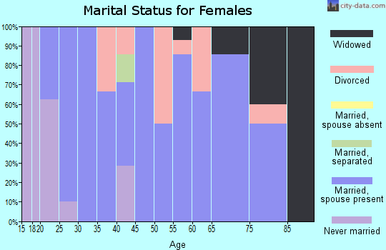 Zip code 55931 marital status for females