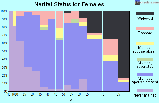 Zip code 55946 marital status for females