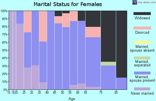 Zip code 55951 marital status for females