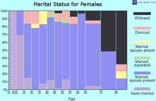 Zip code 55956 marital status for females