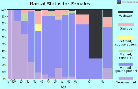 Zip code 55960 marital status for females