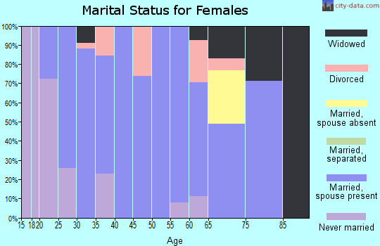 Zip code 55979 marital status for females