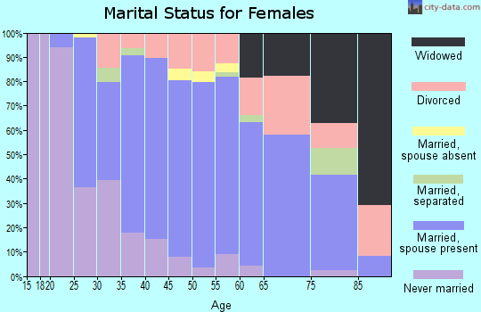 Zip code 56003 marital status for females
