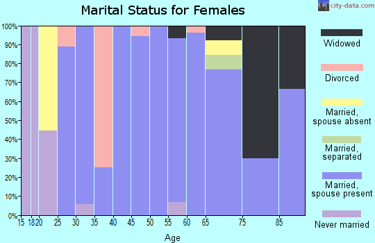 Zip code 56025 marital status for females