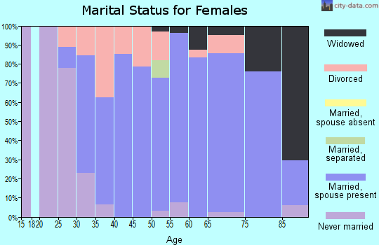 Zip code 56029 marital status for females