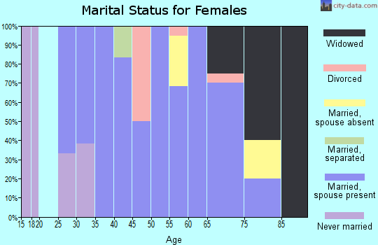 Zip code 56032 marital status for females