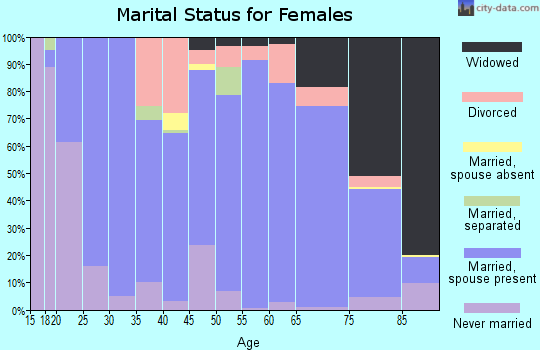 Zip code 56097 marital status for females