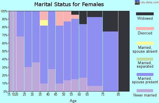 Zip code 56120 marital status for females