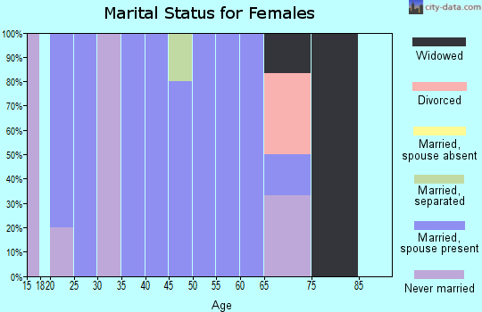 Zip code 56147 marital status for females