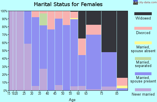Zip code 56215 marital status for females