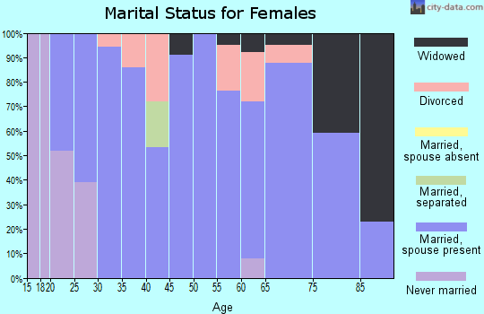 Zip code 56251 marital status for females