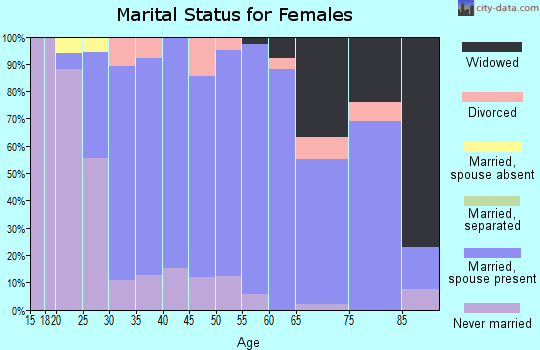 Zip code 56253 marital status for females