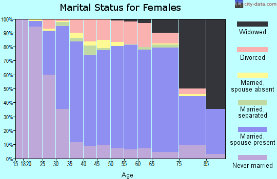 Zip code 56301 marital status for females