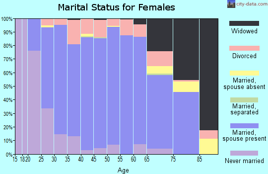 Zip code 56329 marital status for females