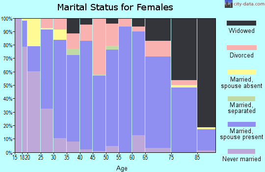 Zip code 56347 marital status for females