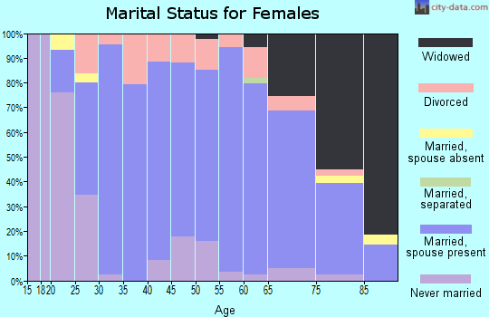 Zip code 56381 marital status for females