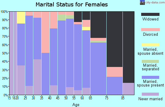 Zip code 56535 marital status for females
