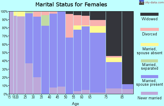 Zip code 56551 marital status for females