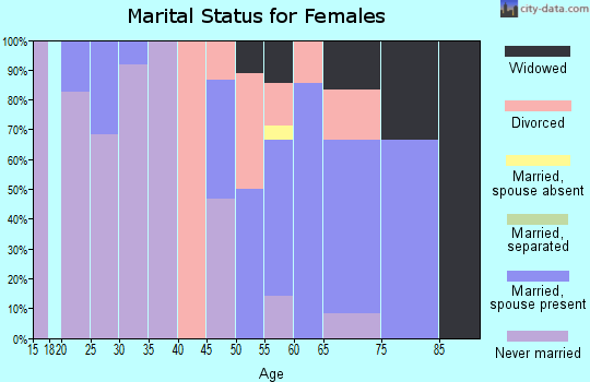 Zip code 56566 marital status for females