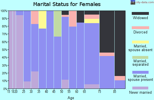 Zip code 56742 marital status for females