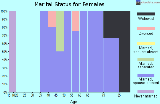 Zip code 57386 marital status for females