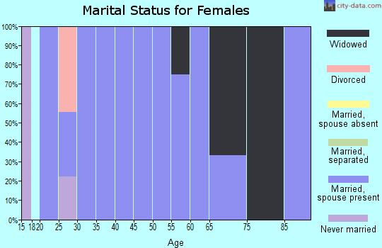 Zip code 57538 marital status for females