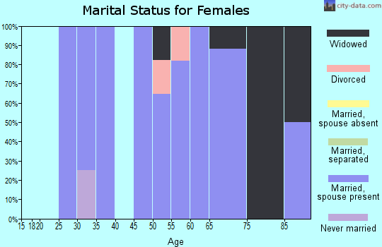 Zip code 58441 marital status for females